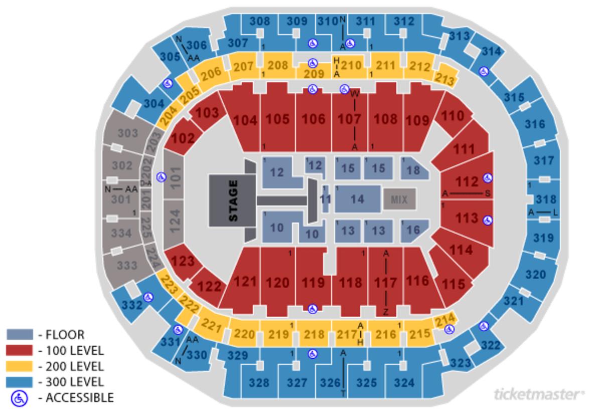 Ariana Grande Seating Chart