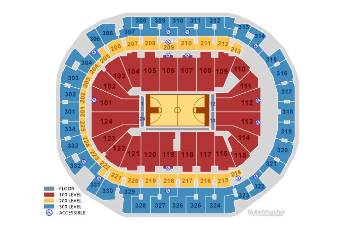 seating maps | american airlines center