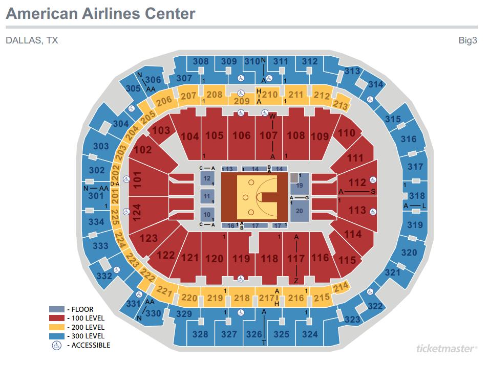 Big 3 Seating Map