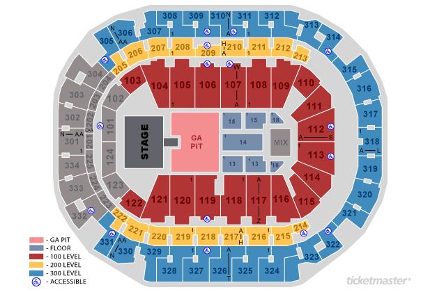 Billie Eilish Seating Map