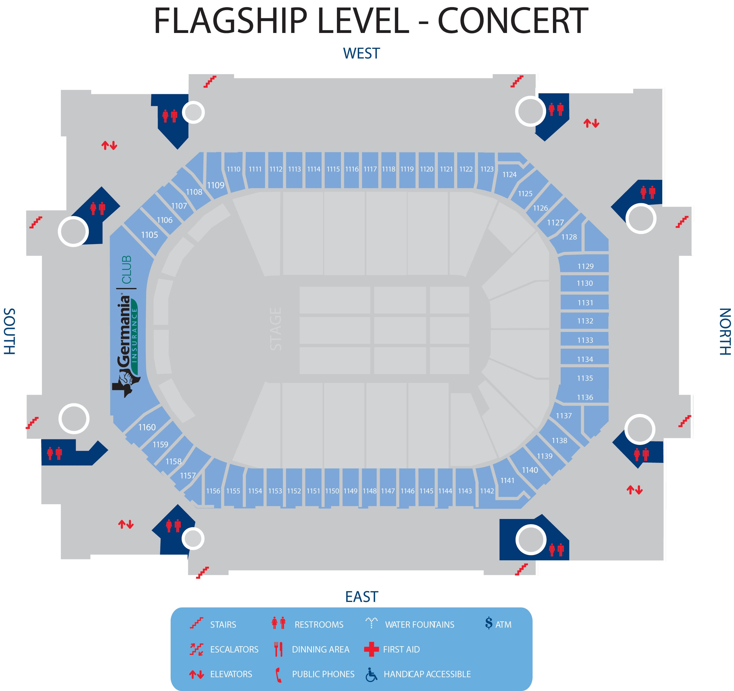 Interactive Concourse Maps | American Airlines Center
