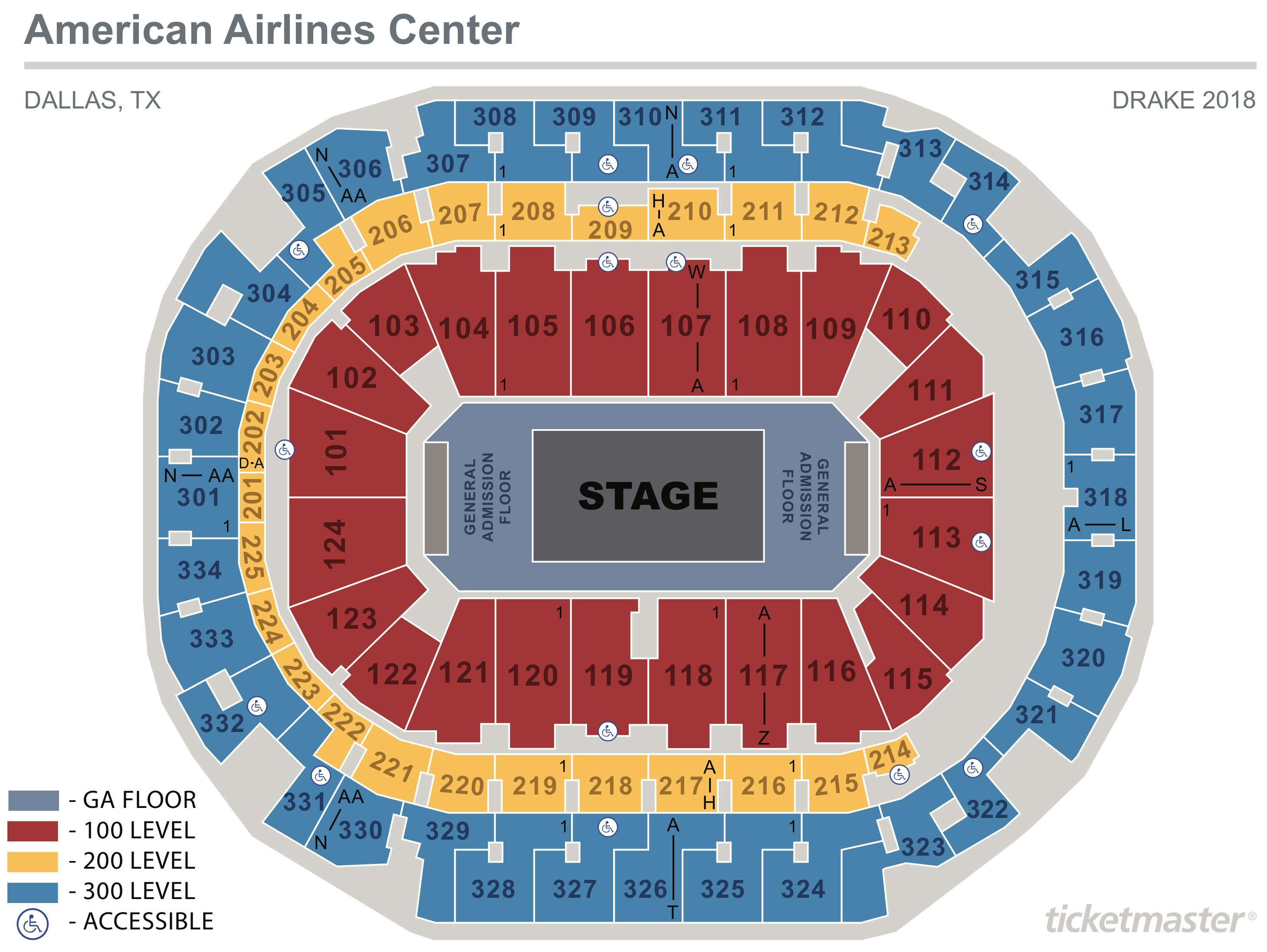Drake Seating Map