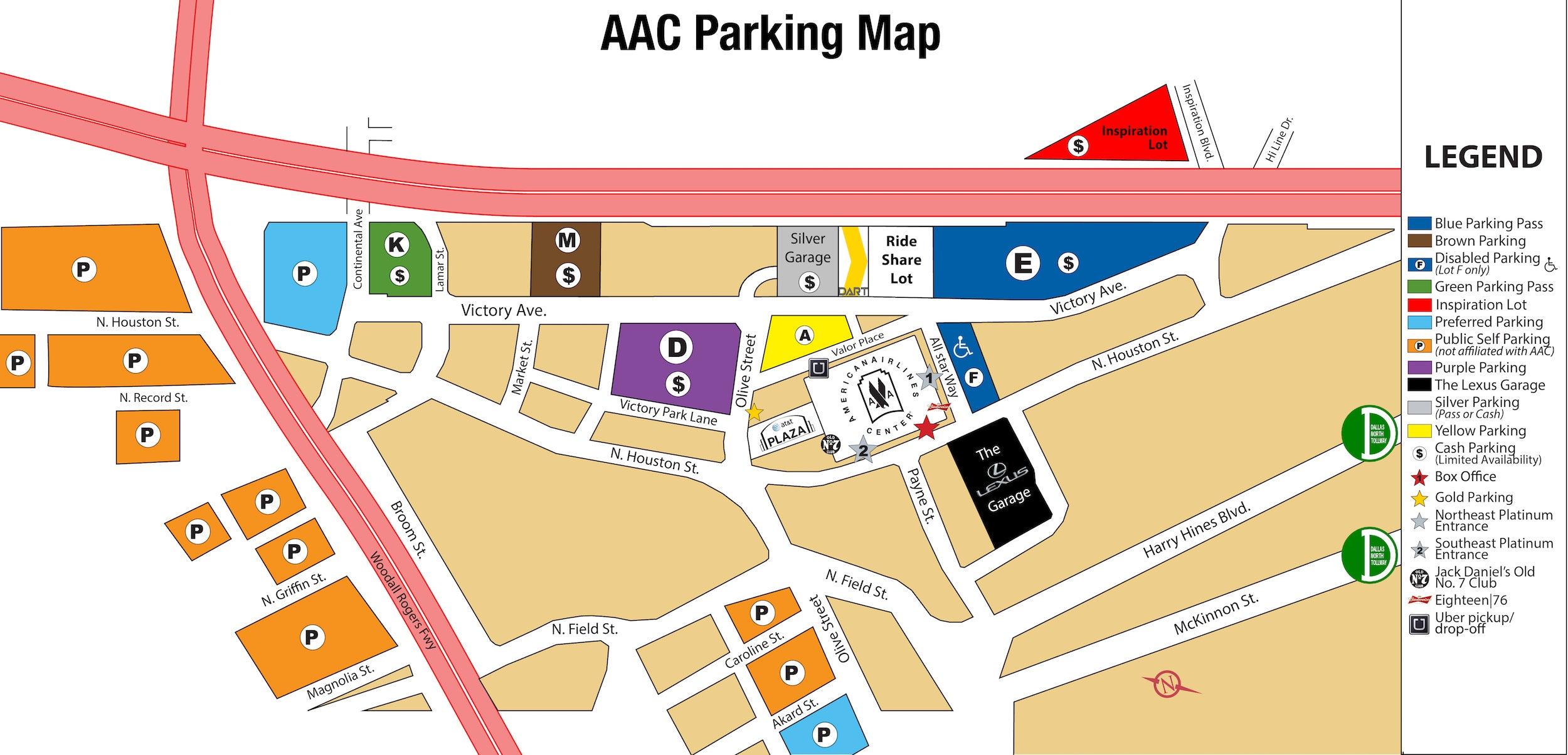 Public Transportation American Airlines Center - Us airways location map