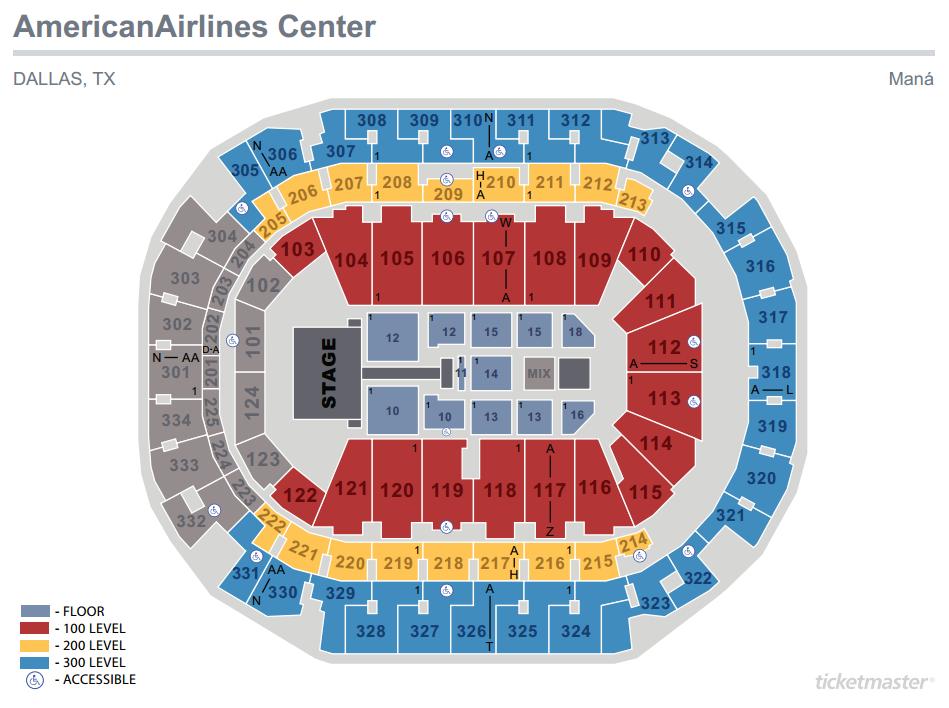 Mana Seating Map