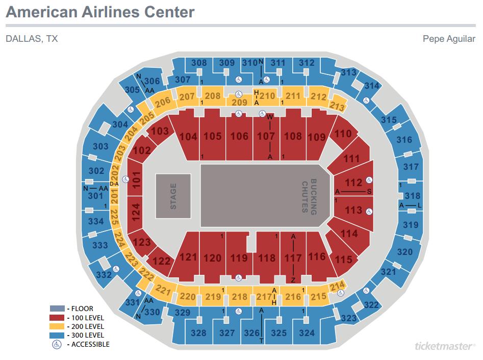Pepe Aguilar Seating Map