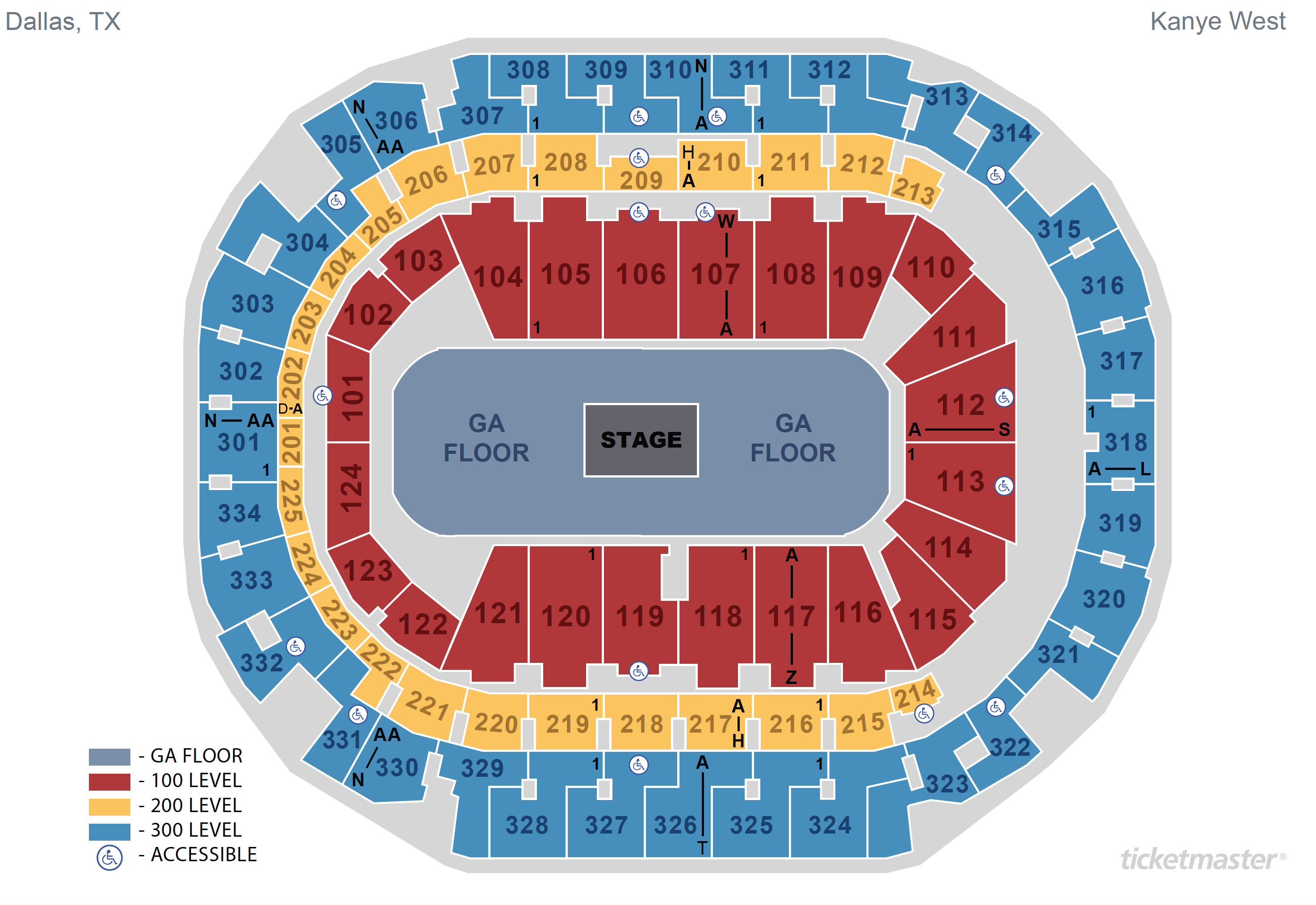 Seating Maps American Airlines Center