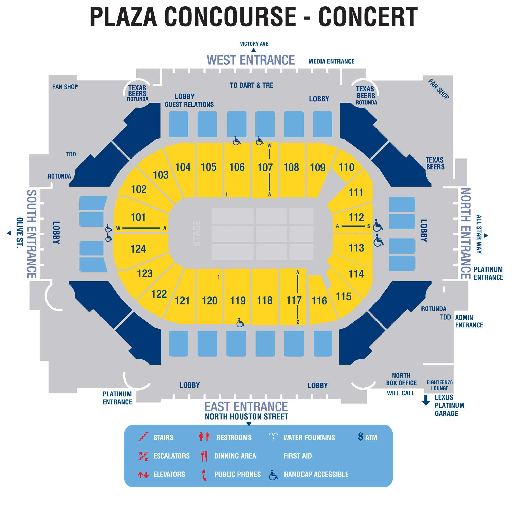 Interactive Concourse Maps American Airlines Center